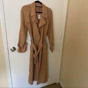 Eleventy Premium Collection Linen Trench Coat